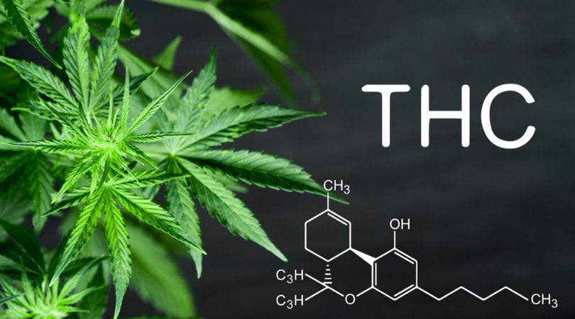 THC structure difference compared to CBD