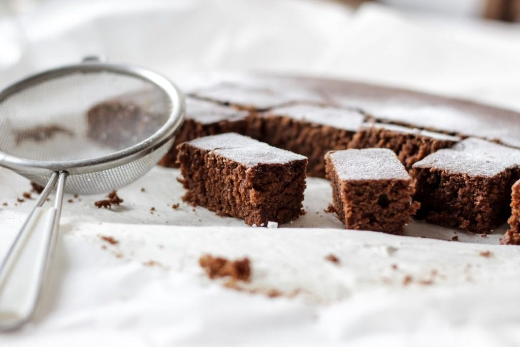 How to make vegan pot brownies. How to make vegan weed brownies. Weed Brownies cut up and served in square pieces