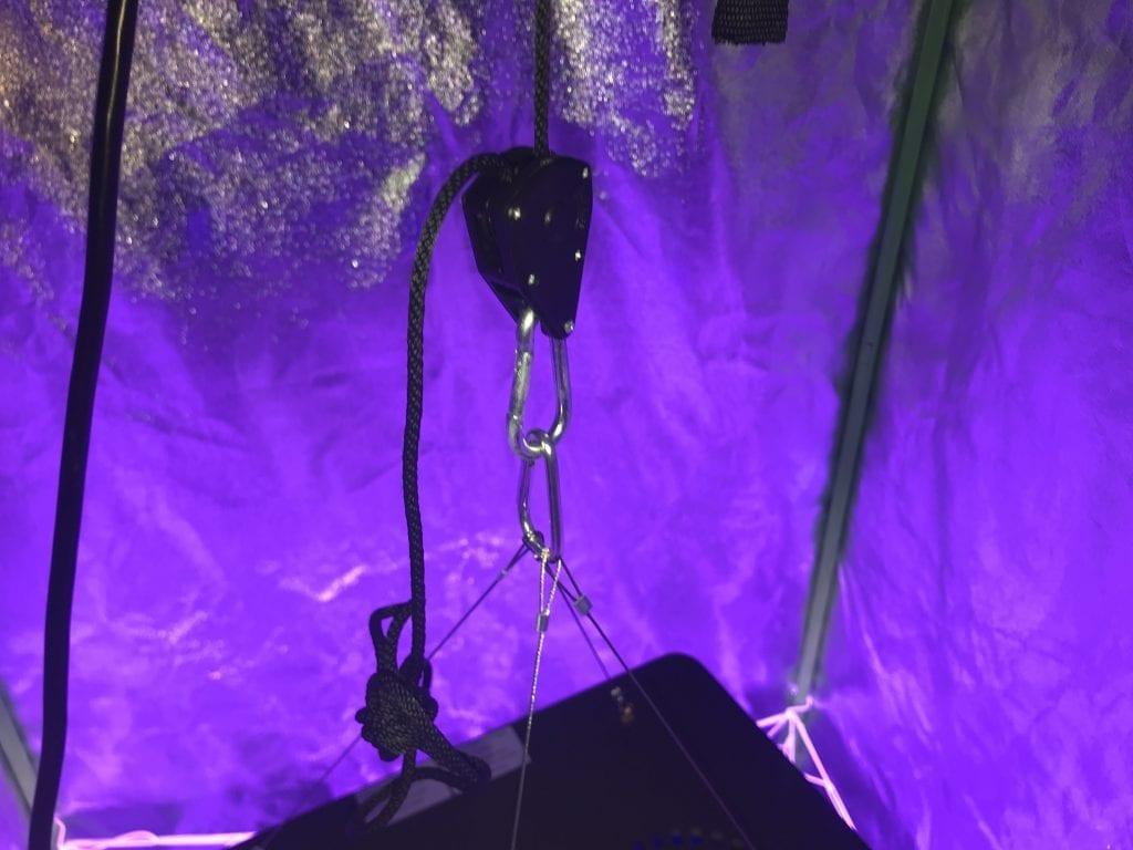 Adjustable Rope for best indoor led light set up. best indoor led grow light