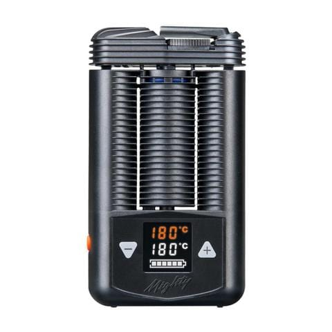 black and orange weed vape with orange digital screen. One of best weed vaporizers in 2020