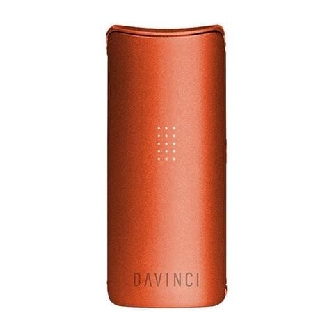 an orange da vinci miqro vaporizer. One of the best weed vaporizers in 2020!