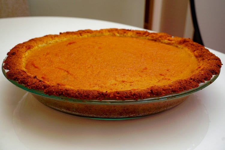 pot pumpkin pie made with infused cannabis butter.