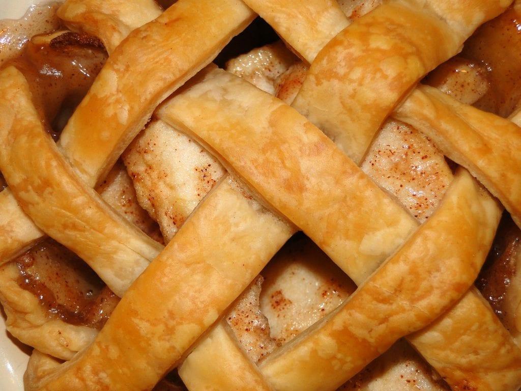 Macro shot of infused apple pie