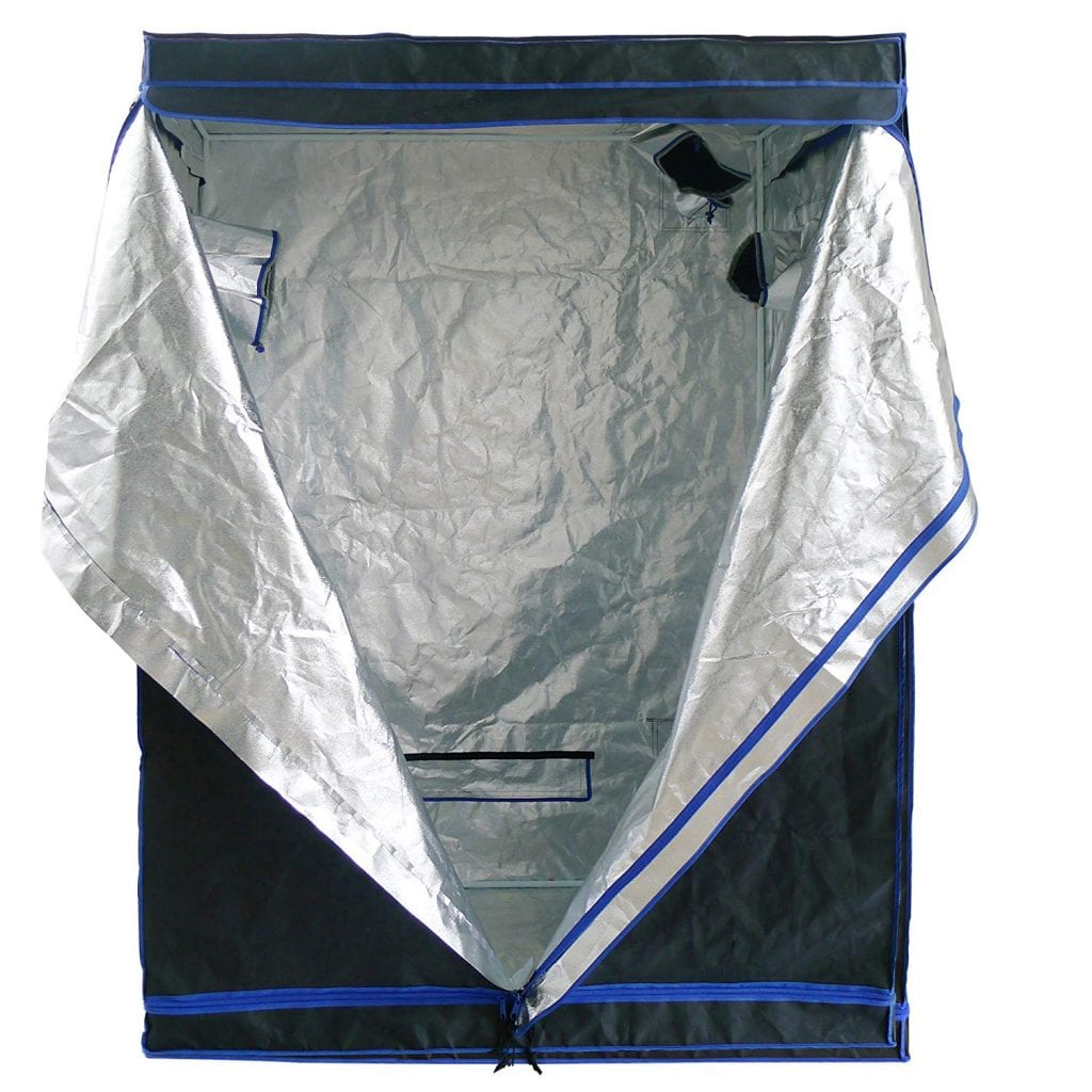 Hydroplanet Mylar Hydroponic Extra-Thick Canvas Grow Tent