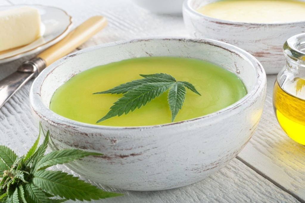 """Cannabis butter in a bowl with a cannabis leaf in the middle, used to make space cakes. """"Class ="""" wp-image-13749 """"/> Cannabis butter   <h2> You need the following: </h2> <p> To make our favorite version of the Space Cake, you first need a few devices. You will most likely be able to find most of this material at home. Here is a list of what you need: </p> <p> <strong> Equipment: </strong> </p> <p> <strong> The main component </strong>: </p> <p> This recipe contains only one ingredient that you are unlikely to find in your kitchen. This ingredient is cannabis butter. If you're not sure how to make it, or want to learn how we can provide you with a comprehensive guide to making cannabis butter here to help you do it. </p> <h2> Space Cake Recipe </h2> <p> <img style="""