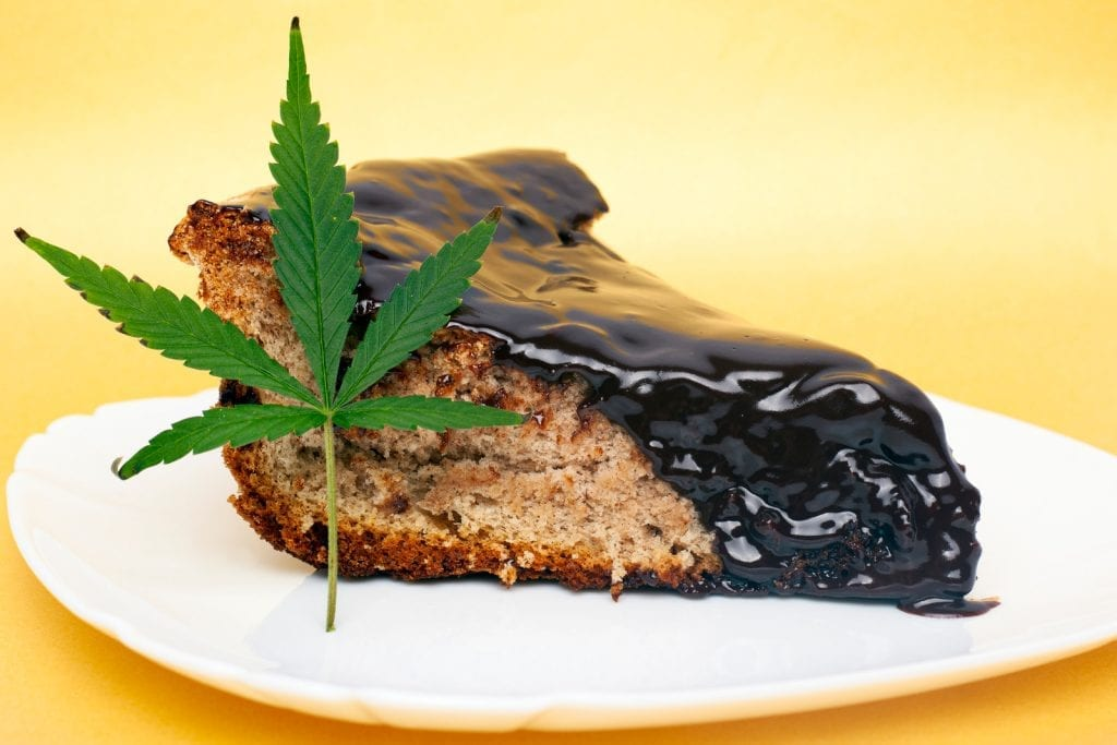 "Cake infused with cannabis on a plate against which a cannabis leaf leaned"" class = ""wp-image-13753"" />   <p> The biggest mistake beginners make is forgetting to activate cannabis before using it in a recipe. Keep in mind that you need to decarboxylate your cannabis before infusing it with your ingredient. </p> <p> Another big mistake that beginners make is not to test the effectiveness of their activated ingredient before they start cooking. This is a crucial step to correctly dose every edible recipe. We recommend that beginners test their infusion by consuming ¼ teaspoon, which is approximately 2.5 mg THC, if they follow our infusion guide. You can then determine your correct dosage sizes based on the test results. </p> <p> After all, when eating food, it is important to know how strong it is. We recommend calculating the doses before creating the recipe. This allows you to adjust the amount of active ingredients used before adding them. </p> <p> We have created over 100 edible recipes and published them for free on this website. If you want to try some of them, click here. </p> </pre> </pre> 					</div>