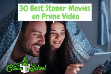 30 of the best stoner movies on prime video, couple watching a movie together under the covers.