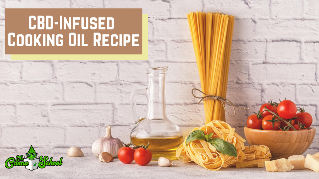 cbd infused cooking oil recipe, the pasta noodles lean against a brick wall.