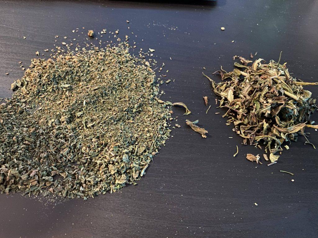 the two types of shake weed. Growers shake and bottom bag shake.