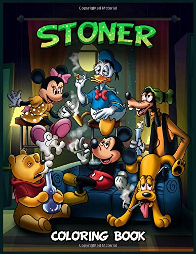 Disney character stoner coloring book cover.