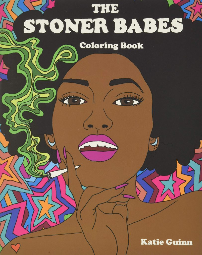 The stoner babes coloring book cover.