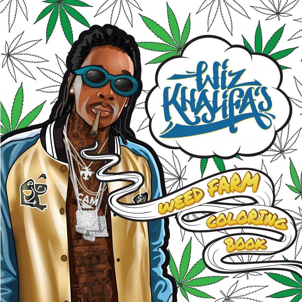 The Wiz Khalifa's weed farm stoner coloring book.